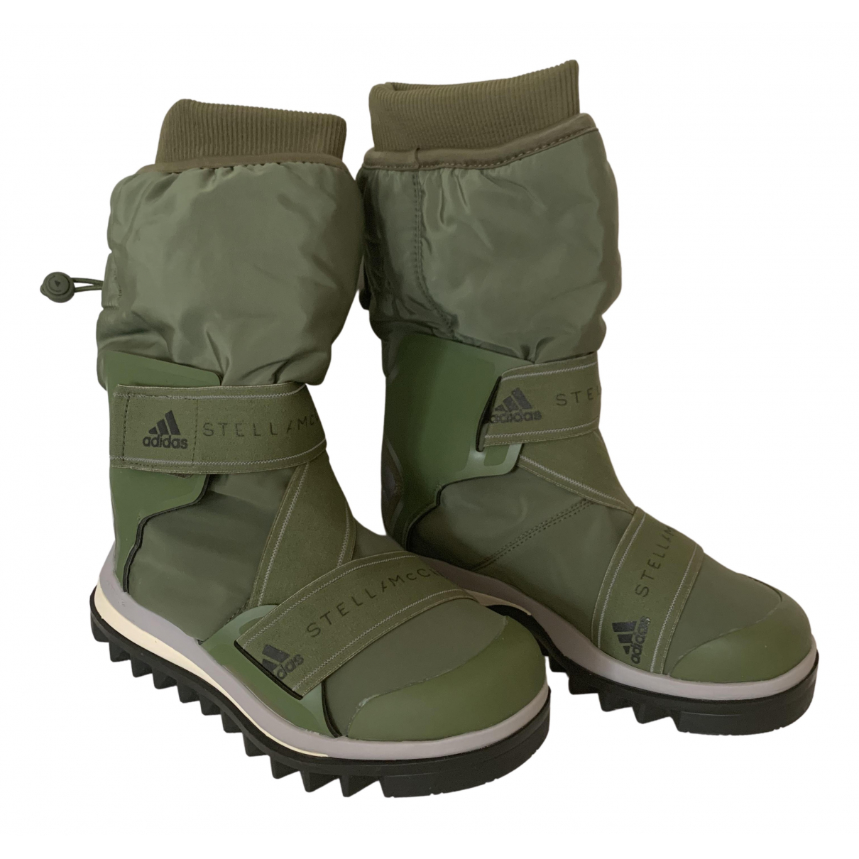 Stella Mccartney Pour Adidas N Khaki Boots for Women 36 EU