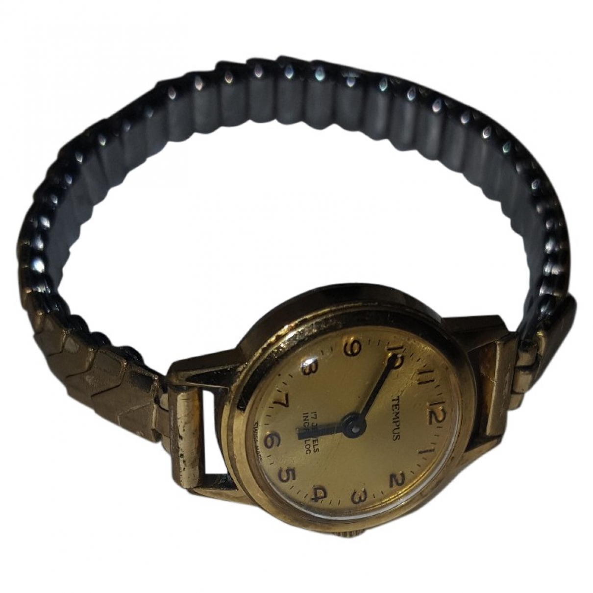 Non Signe / Unsigned \N Uhr in  Gold Stahl