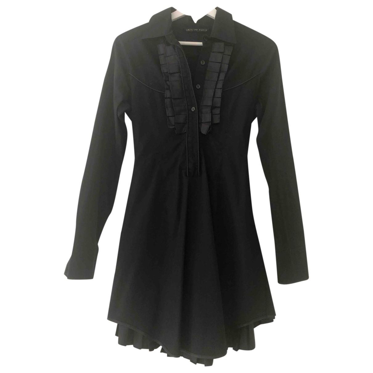 Philipp Plein \N Kleid in  Schwarz Baumwolle