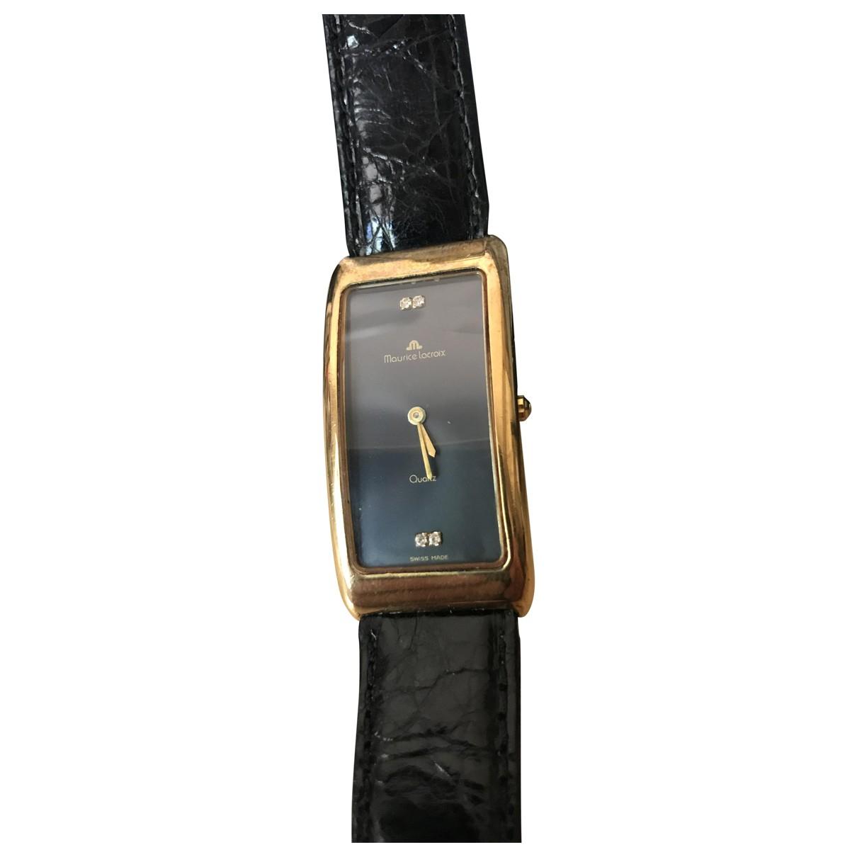 Maurice Lacroix \N Uhr in  Schwarz Vergoldet