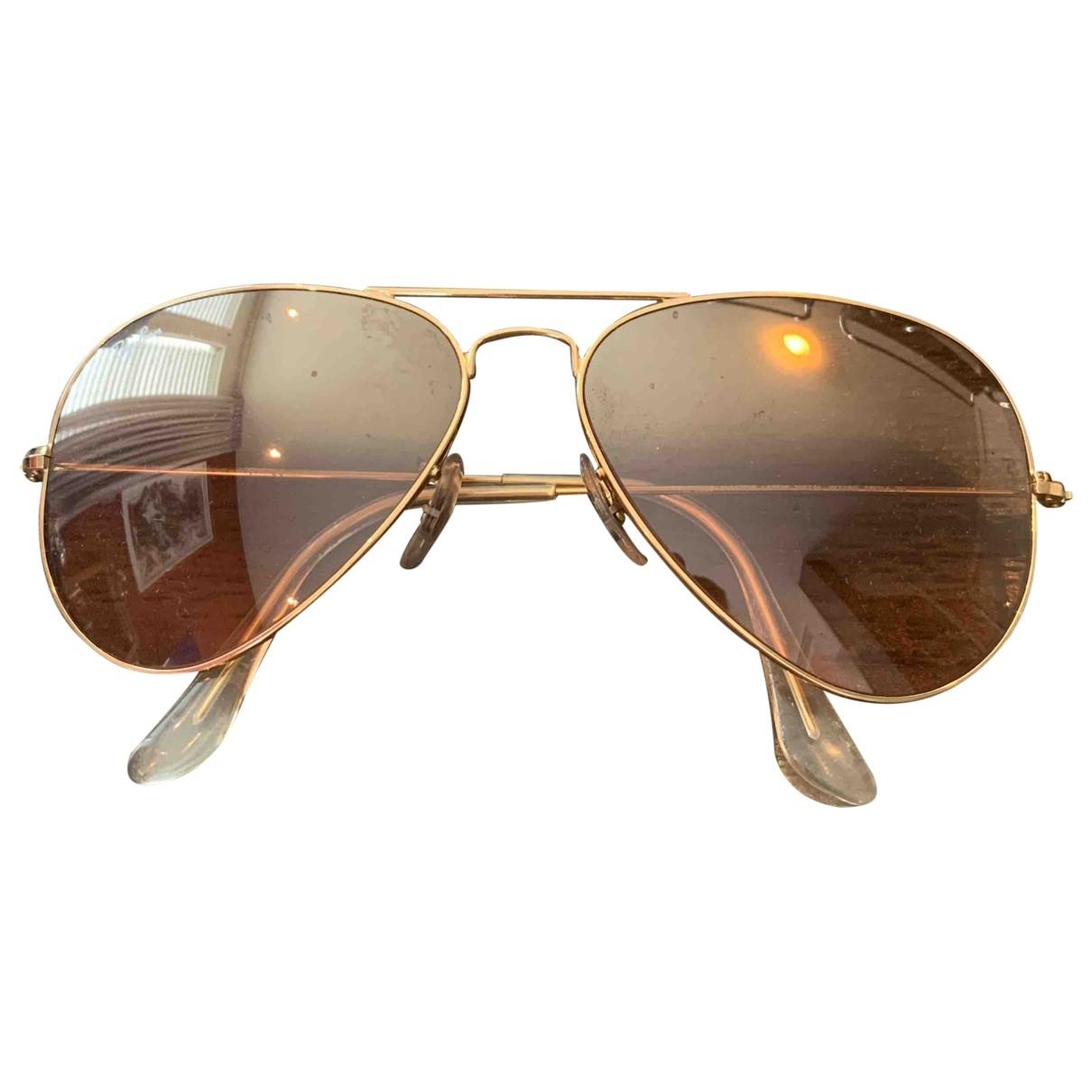 Ray-ban Aviator Sonnenbrillen in  Rosa Metall