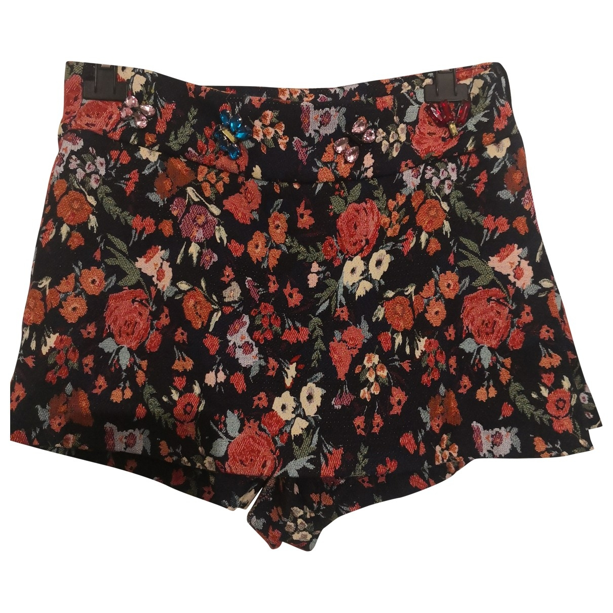 Zara Hippie Chic Multicolour Cotton Shorts for Women S International