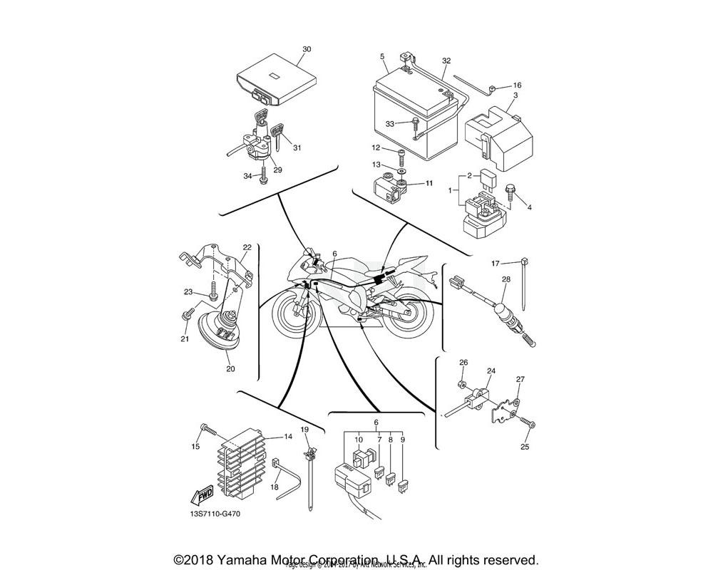 Yamaha OEM 2C0-82116-00-00 WIRE, MINUS LEAD