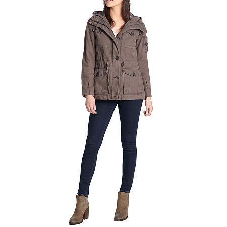 Levis Hooded Midweight Field Jacket, X-large , Gray