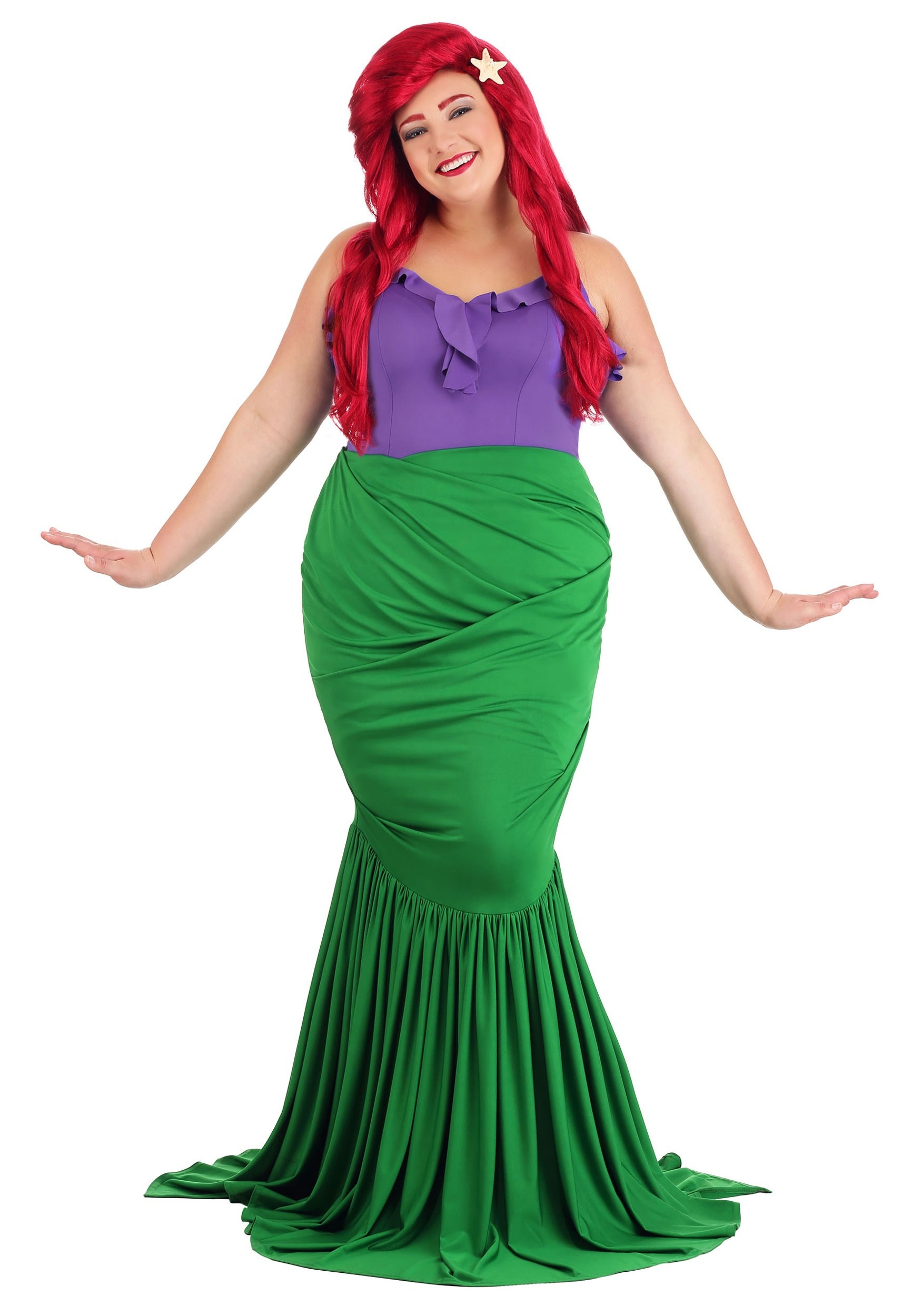 Undersea Mermaid Costume for Plus Size Women