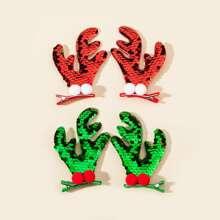 4 piezas horquilla con cornamenta de Navidad de niñitas