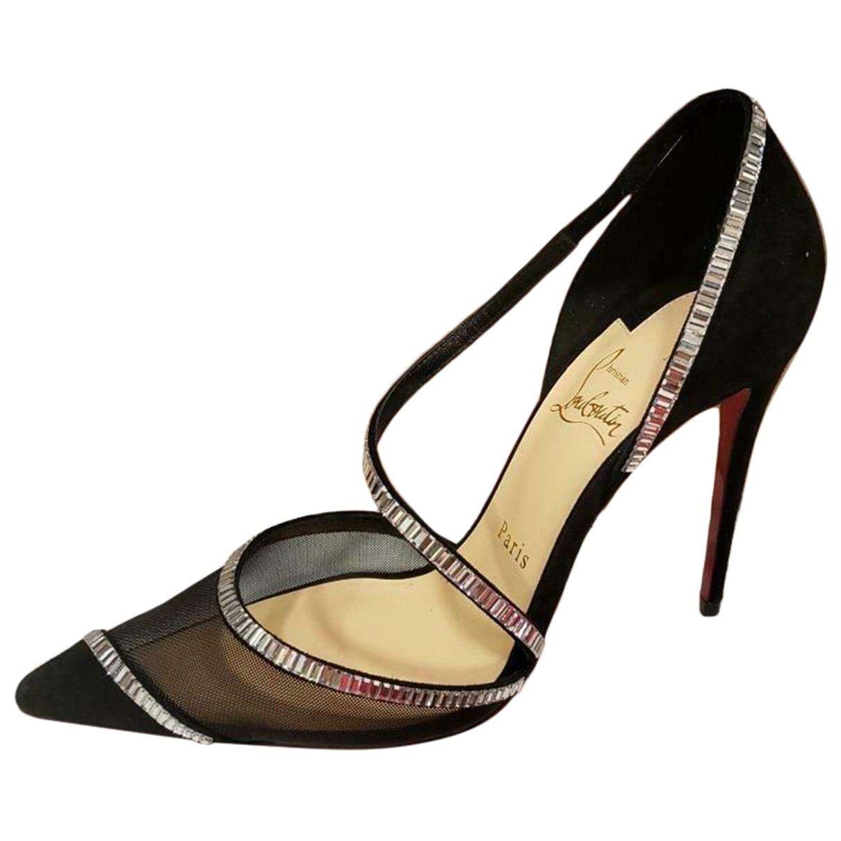 Christian Louboutin \N Black Suede Heels for Women 39.5 EU