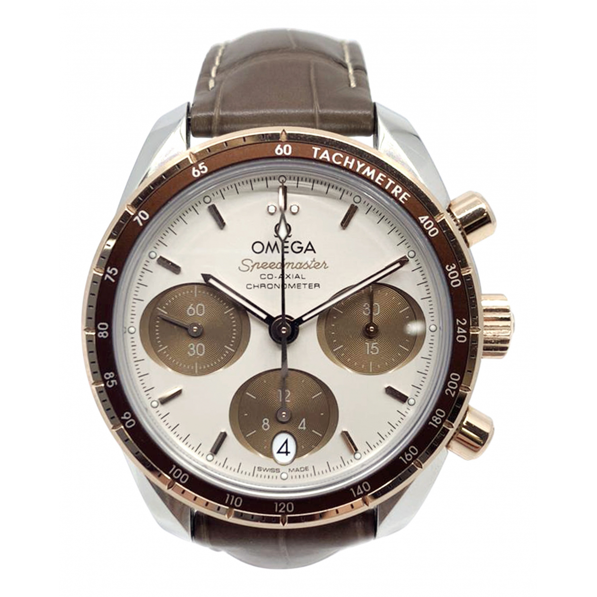 Omega Speedmaster gold and steel watch for Men \N
