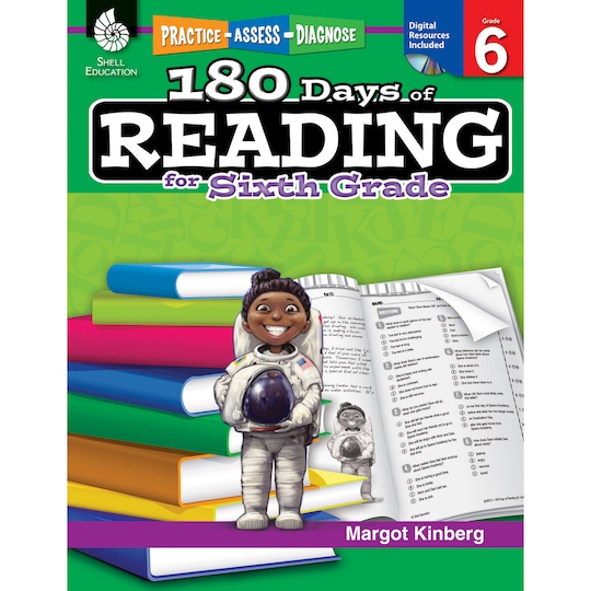 180 Days Of Reading Activity Book For Sixth Grade By Shell Education | Michaels®