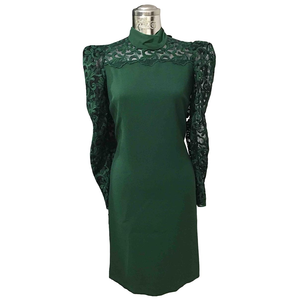 Non Signe / Unsigned \N Kleid in  Gruen Spitze