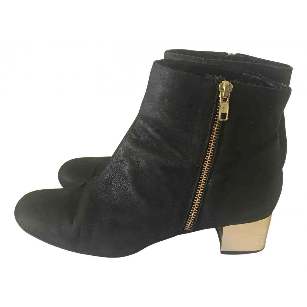 Tophop \N Stiefel in  Schwarz Leder
