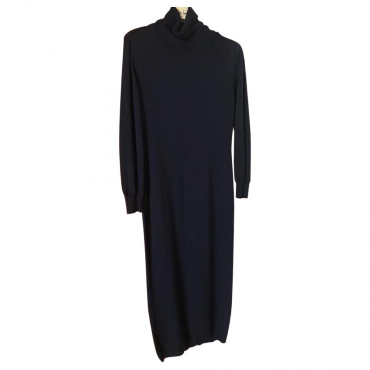 Liviana Conti - Robe   pour femme en laine - bleu