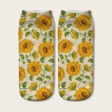 Sunflower Pattern Socks