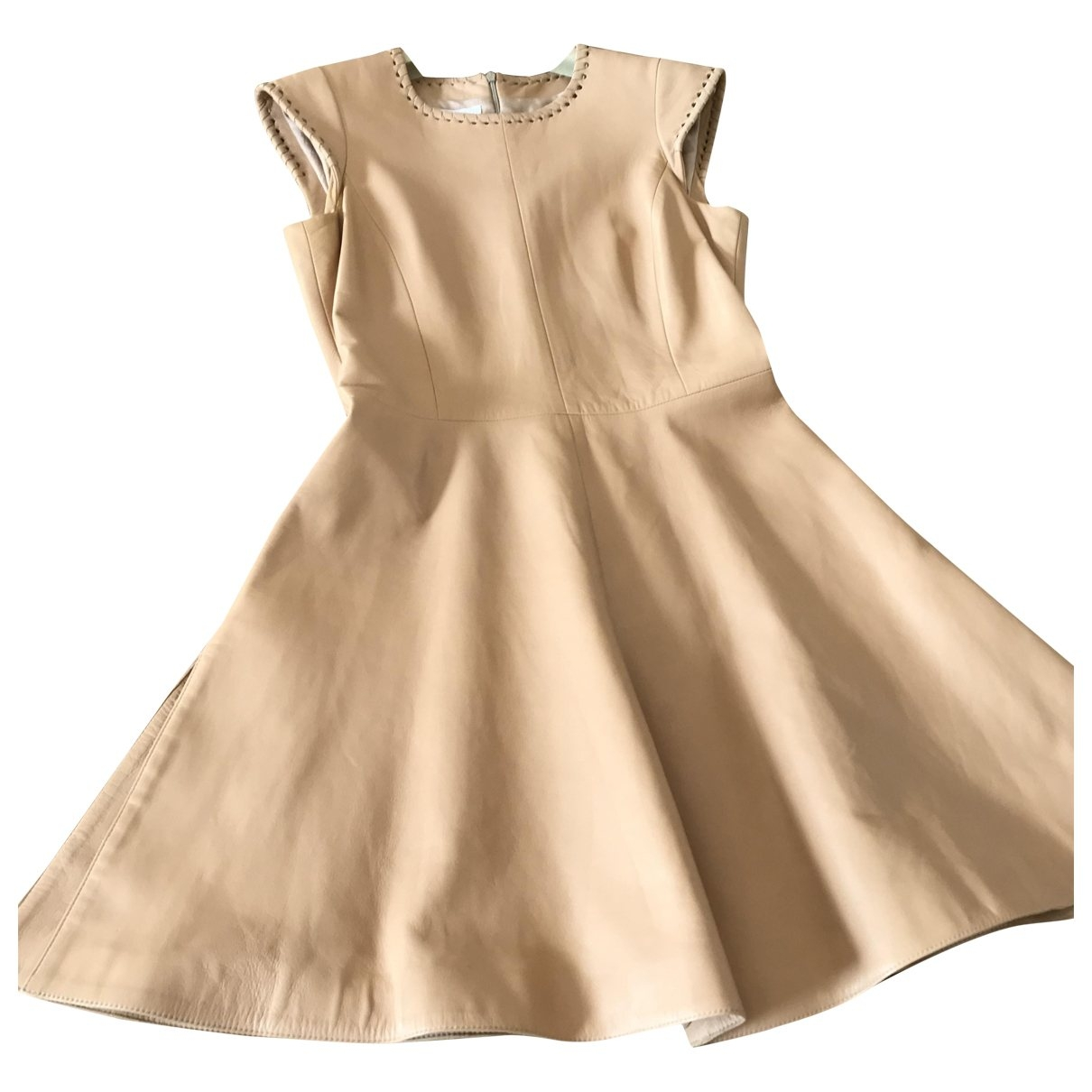 Chloé \N Beige Leather dress for Women 36 FR