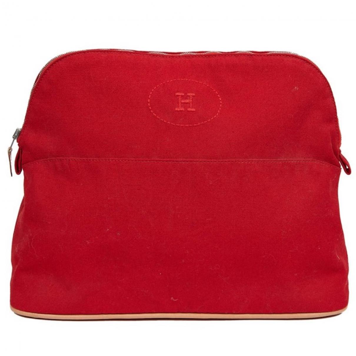 Hermes - Sac de voyage Bolide pour femme en coton - rouge