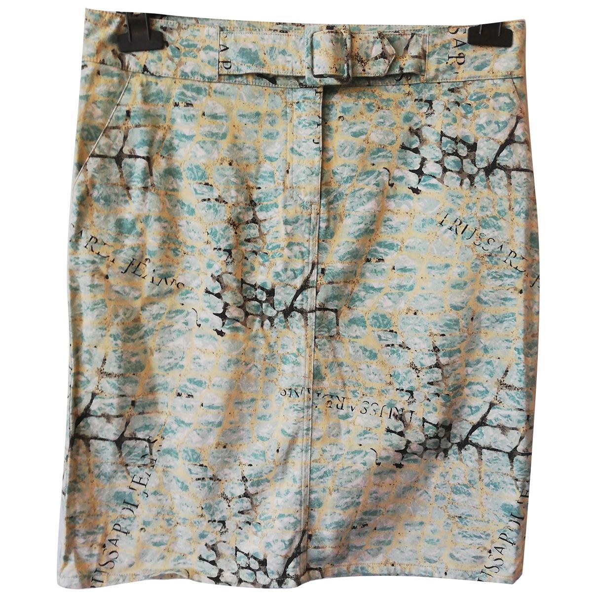 Trussardi Jeans \N Multicolour Cotton - elasthane skirt for Women 42 IT