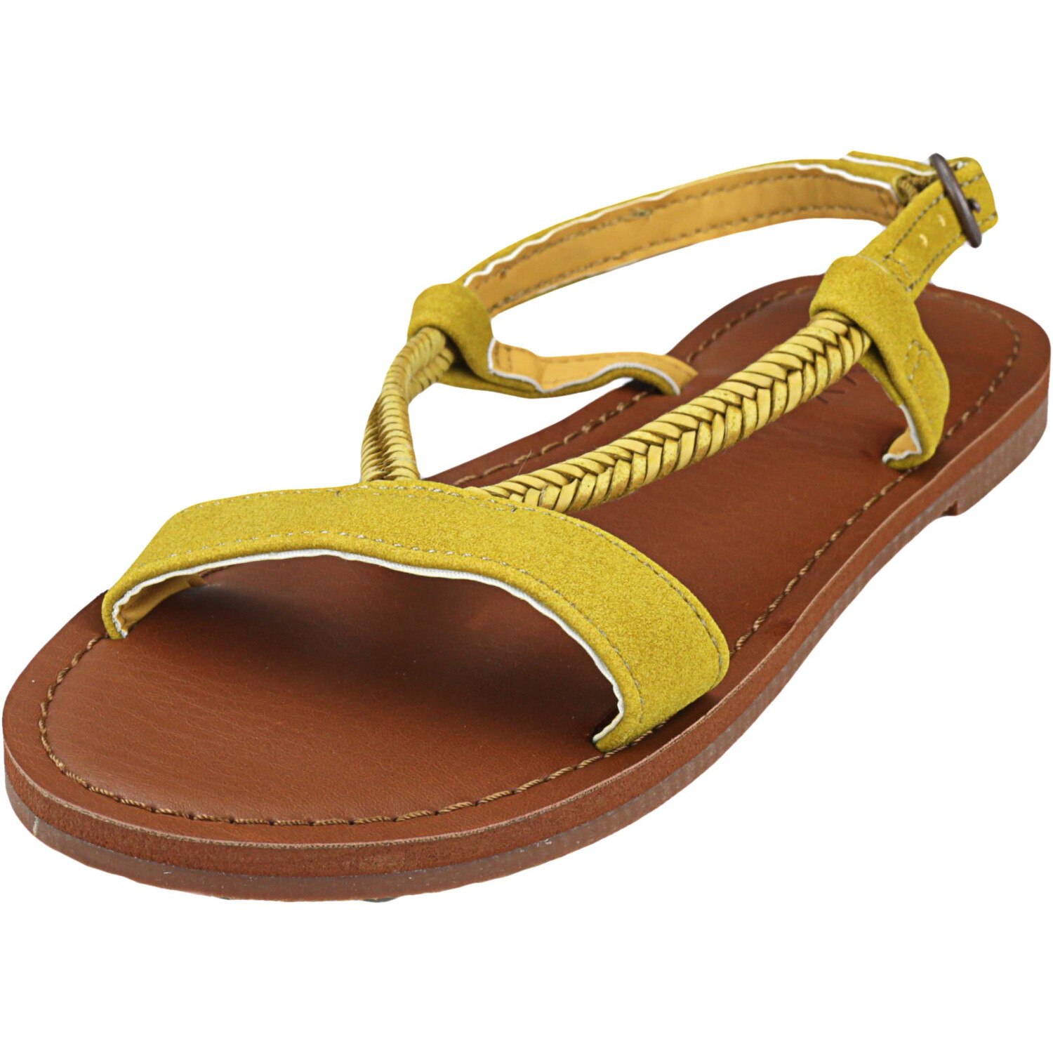 Roxy Women's Kitty Mustard Ankle-High Sandal - 5M