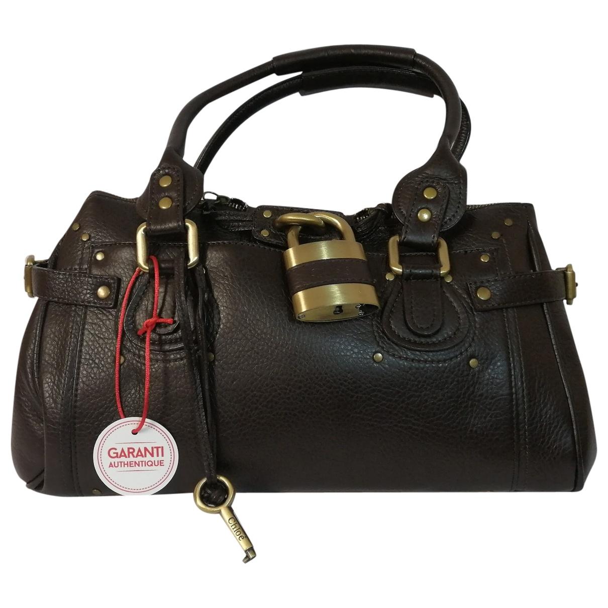 Chloe Paddington Handtasche in  Braun Leder