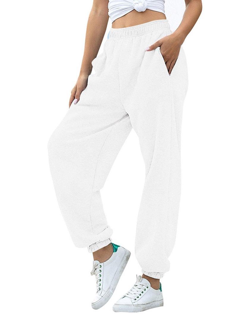 Ericdress Plain Loose Pocket Ankle Length Pencil Pants Casual Pants