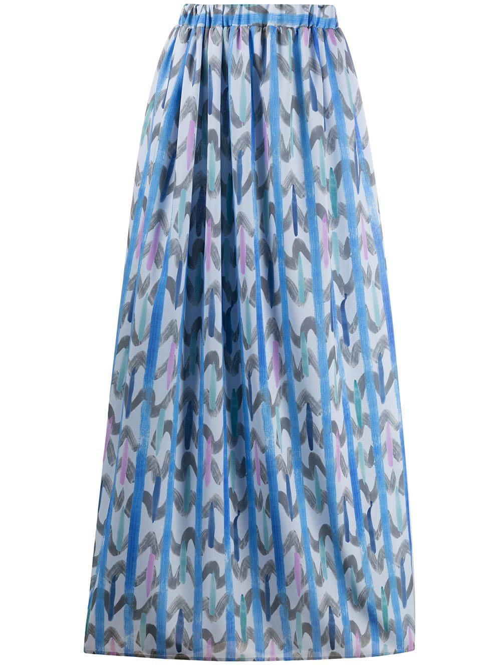 Chevron Print Skirt