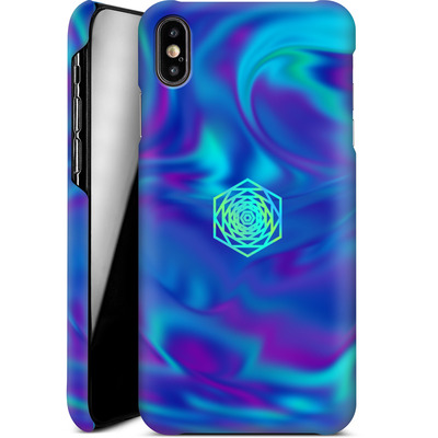 Apple iPhone XS Max Smartphone Huelle - PSYCHEDELIC BLUE von Berlin Techno Collective