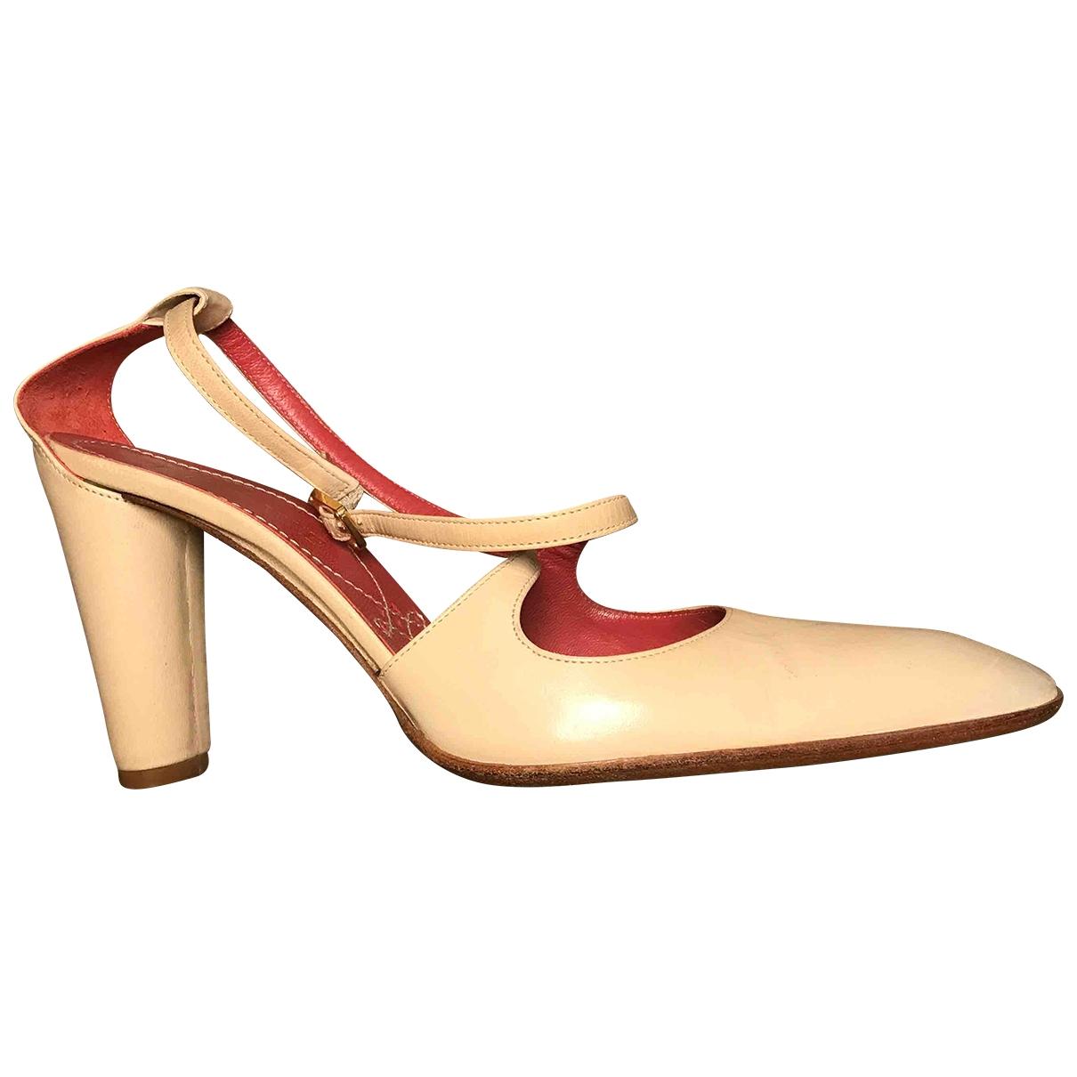 Loewe \N Sandalen in  Beige Leder