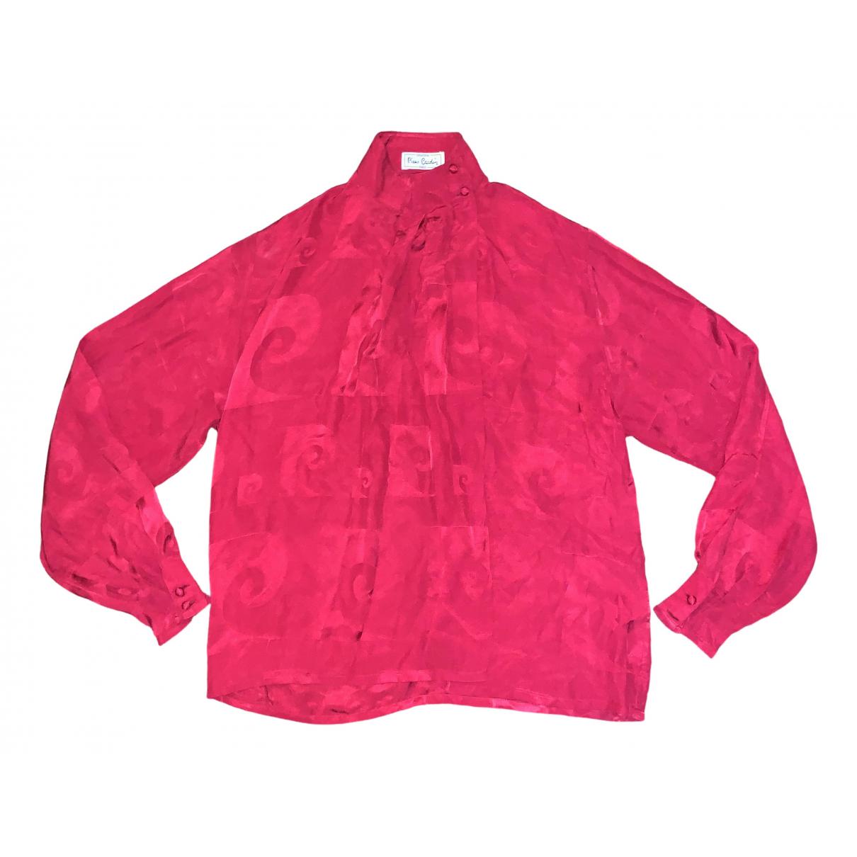 Pierre Cardin - Top   pour femme en soie - rouge