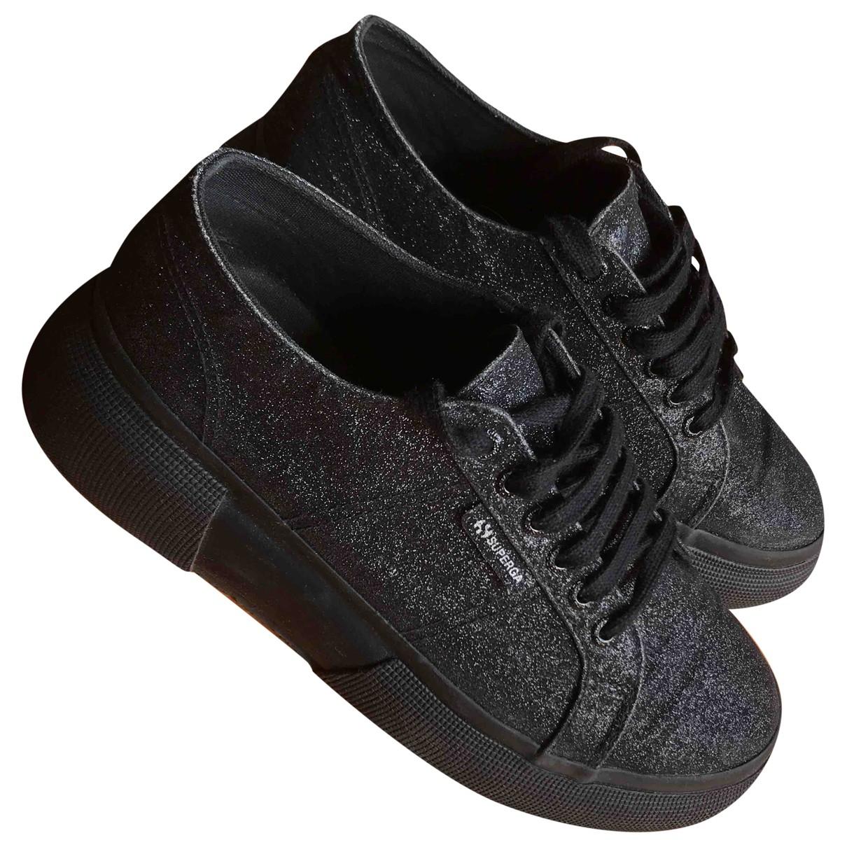 Superga \N Sneakers in  Schwarz Leinen