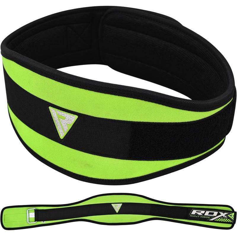 RDX 9C Neoprene Gym Weightlifting Belt 6 Inch Medium Green/Black