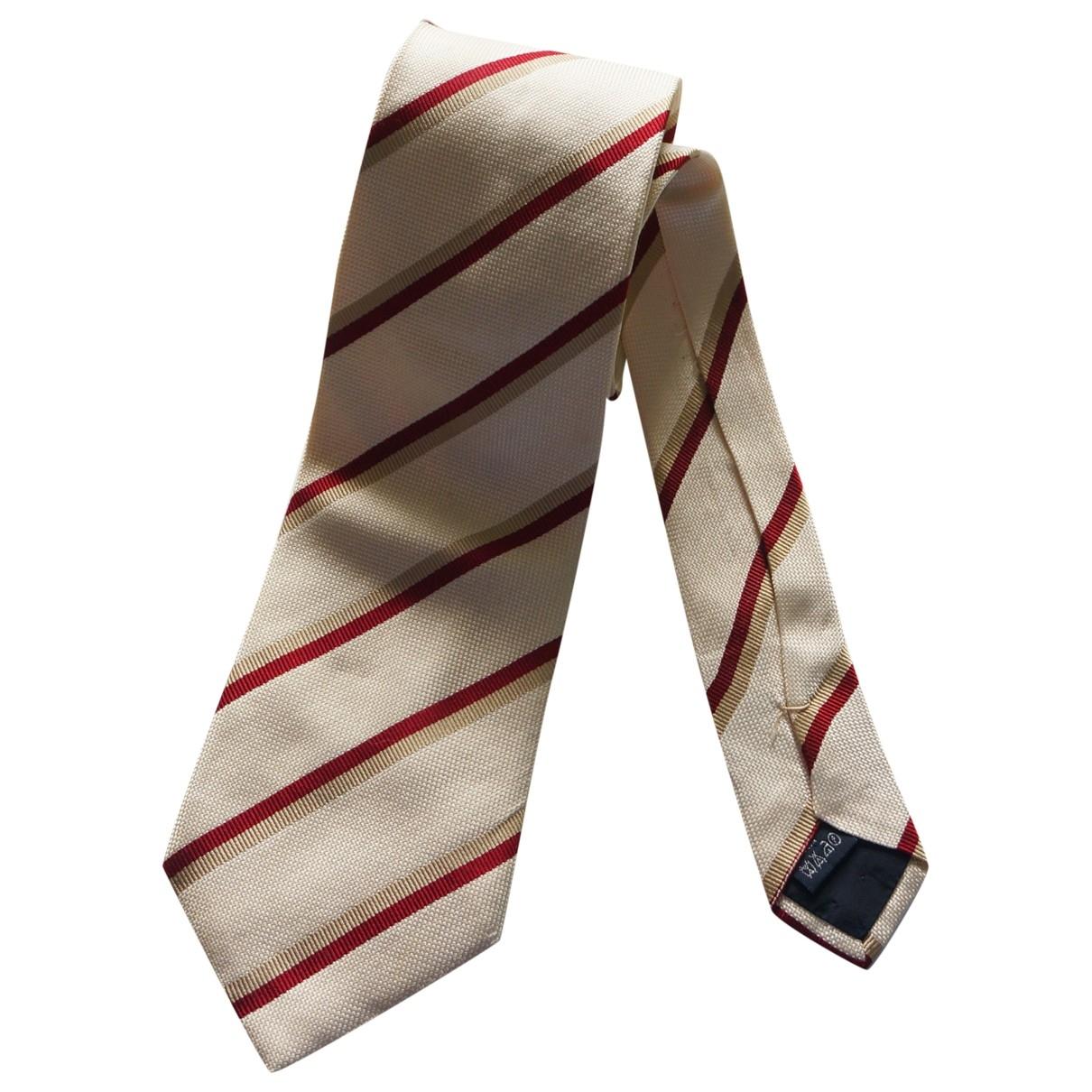 Burberry \N Krawatten in  Ecru Seide