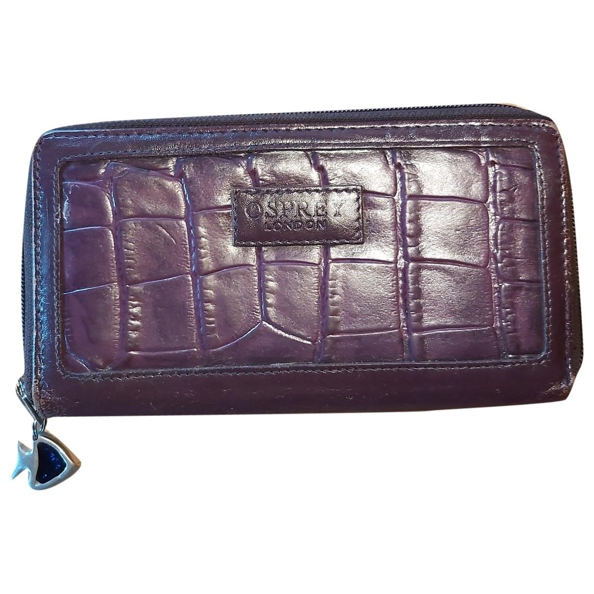 Osprey - Portefeuille   pour femme en cuir - violet