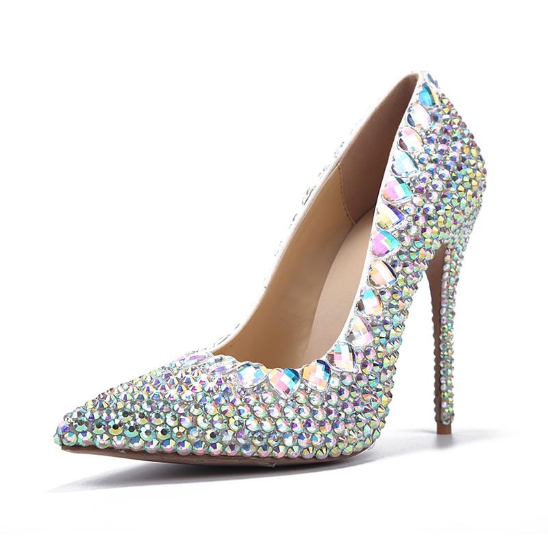 Ericdress Rhinestone Slip-On Plain Stiletto Heel Wedding Shoes