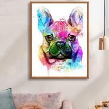 Dog Print DIY Diamond Painting Without Frame