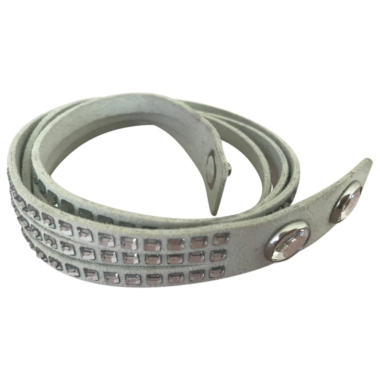 Swarovski - Bracelet Slake pour femme en cuir - blanc