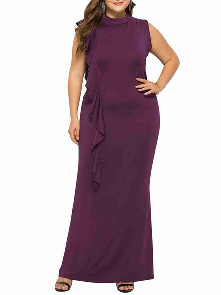 Milanoo Women Maxi Dresses Plus Size For Fat Ladies New Design Winter Street Wear Ladies Clothing Occasion Wear Long Gowns