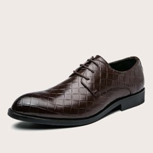 Men Woven Pattern Dress Shoes