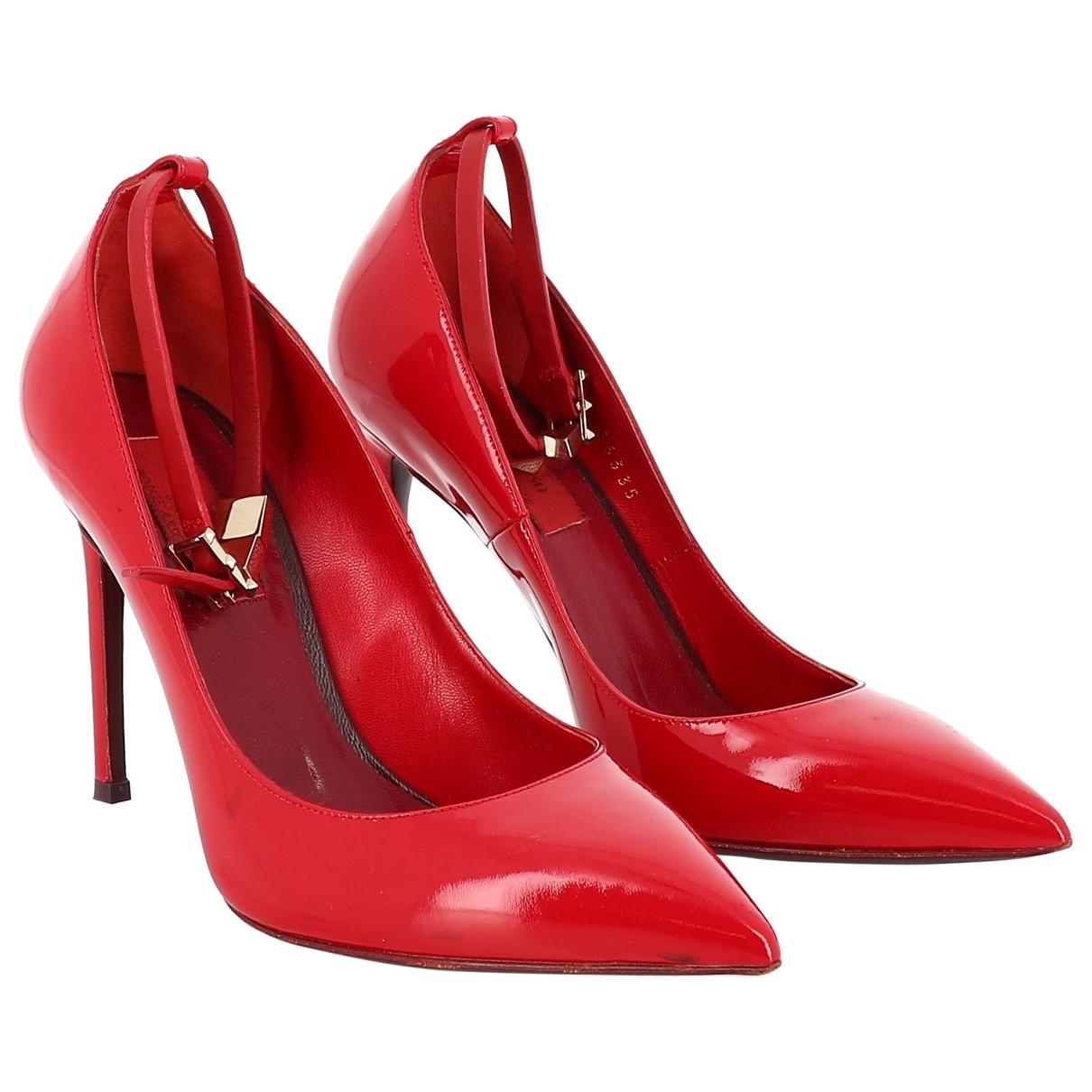 Valentino Garavani - Escarpins   pour femme en cuir verni - rouge