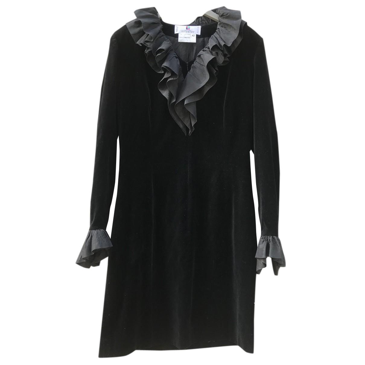 Givenchy \N Kleid in  Schwarz Samt