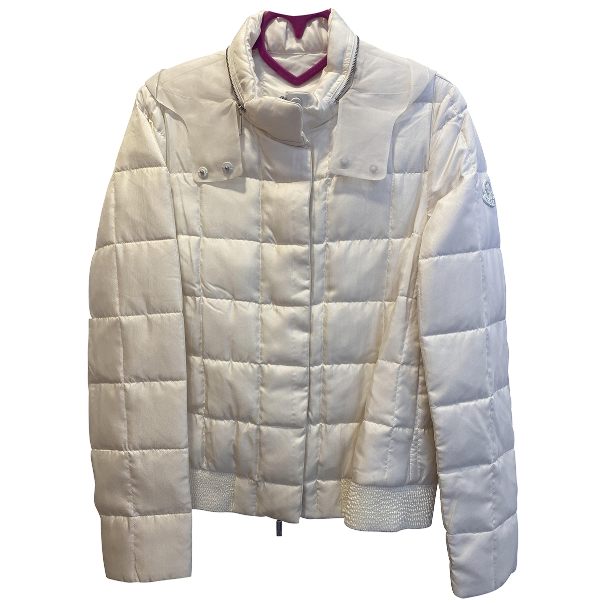 Moncler - Manteau Classic pour femme en soie - blanc