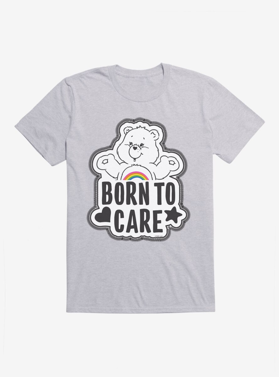 Care Bears Grayscale Cheer Born To Care T-Shirt