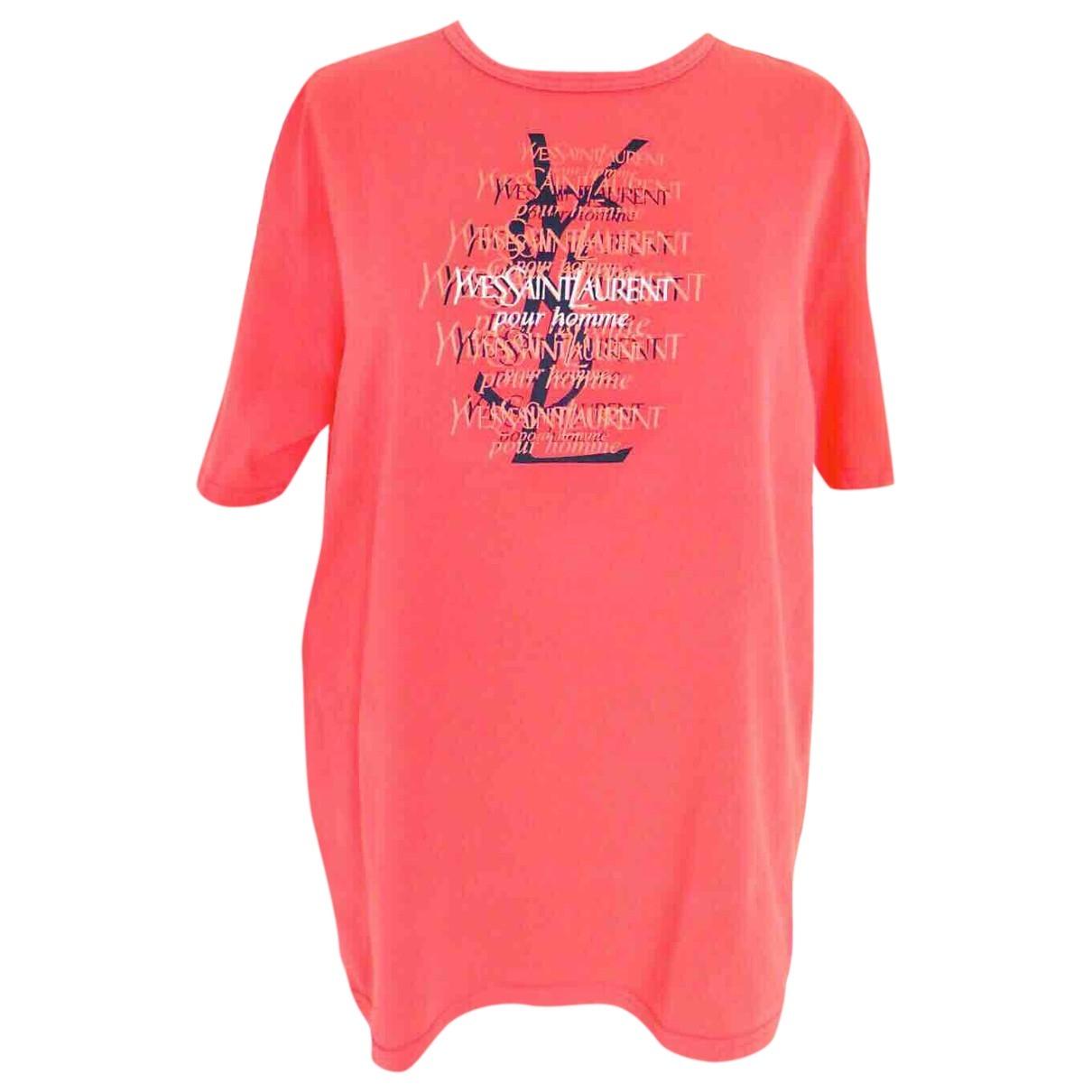 Yves Saint Laurent - Tee shirts   pour homme en coton - rose
