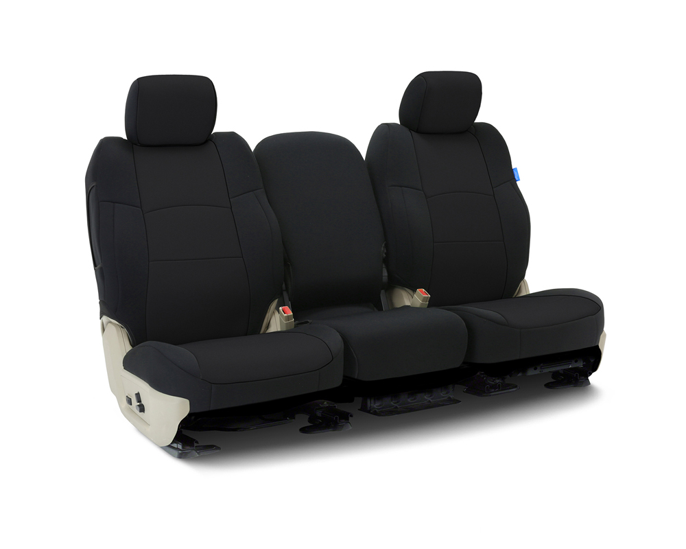Coverking CSCF1HD9730 Custom Seat Covers 1 Row Neoprene Solid Black Front Honda Civic 2016-2021