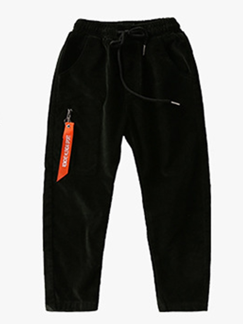 Ericdress Zipper Straight Full Length Boy's Pants