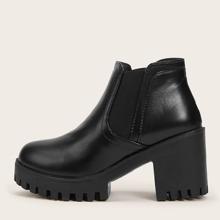Chunky Heeled Chelsea Boots