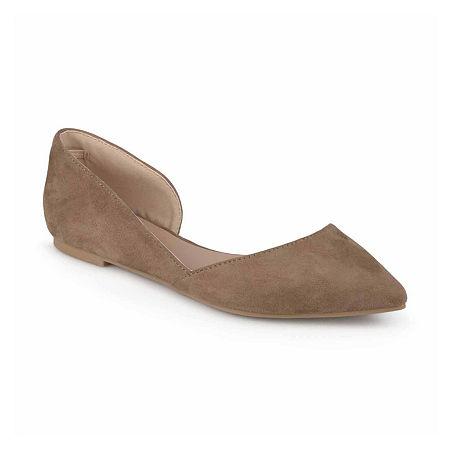 Journee Collection Womens Ester Ballet Flats, 8 1/2 Medium, Brown