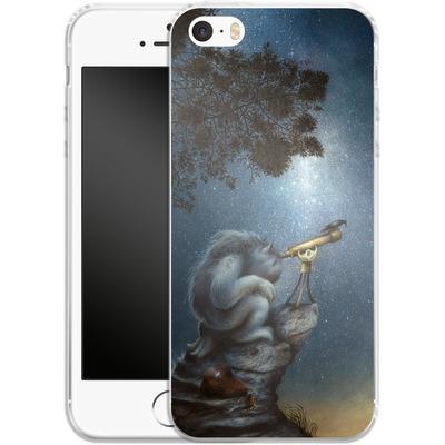 Apple iPhone 5s Silikon Handyhuelle - Cosmic Wanderer von Dan May