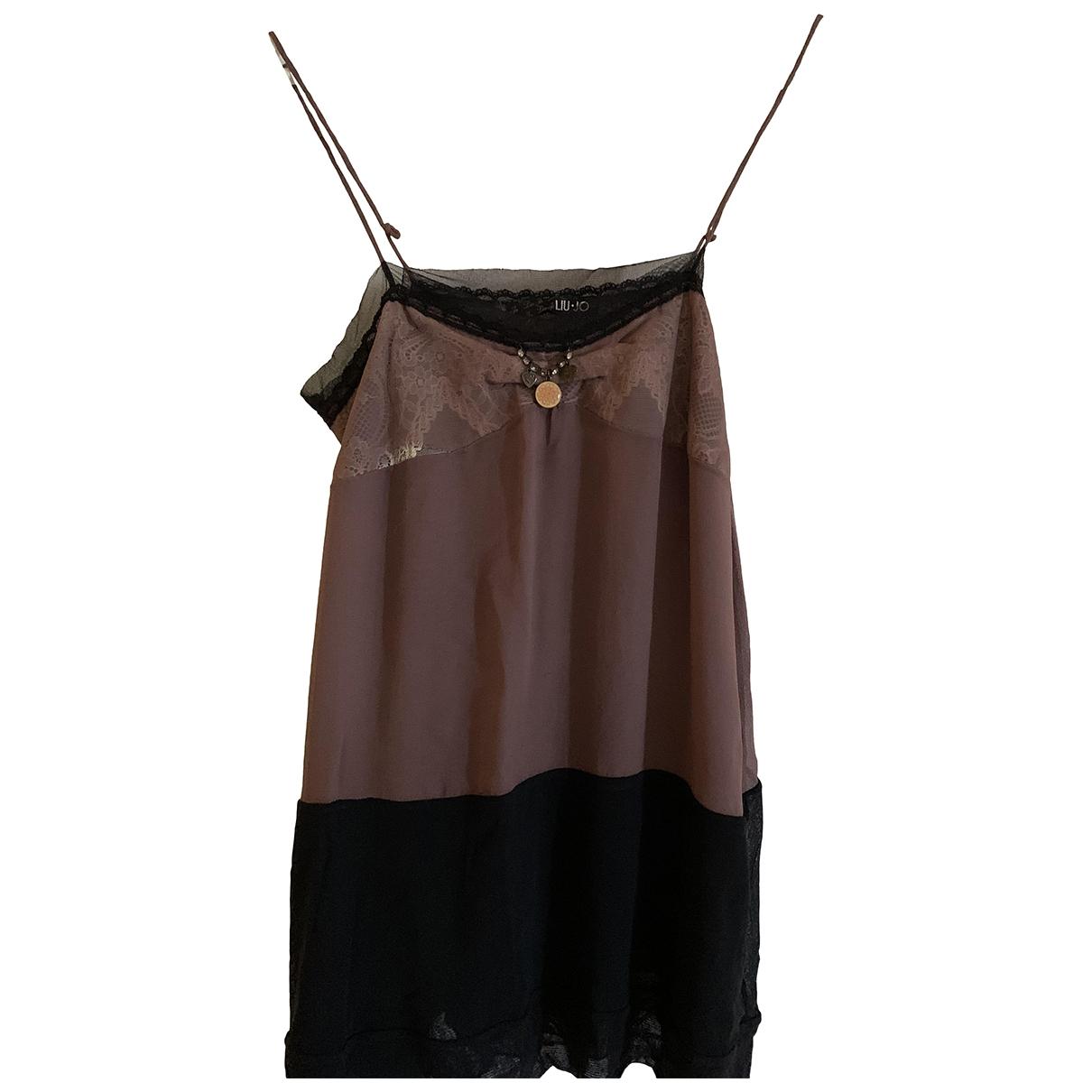 Liu.jo \N Black Silk  top for Women 40 IT