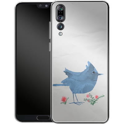 Huawei P20 Pro Silikon Handyhuelle - Watercolour Bird White von caseable Designs