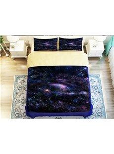Amazing Nebula Print 4-Piece Polyester Duvet Cover Sets