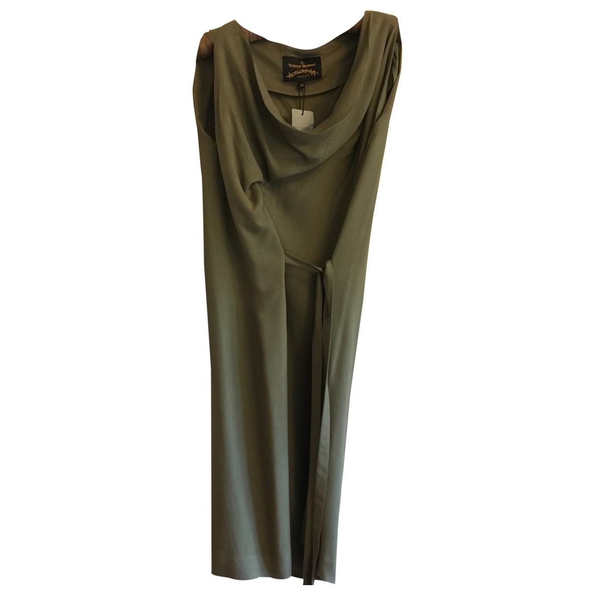 Vivienne Westwood Anglomania \N Kleid in  Khaki Wolle